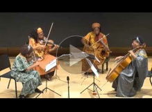 Marian Anderson String Quartet performs at Brown University, Fall 2013
