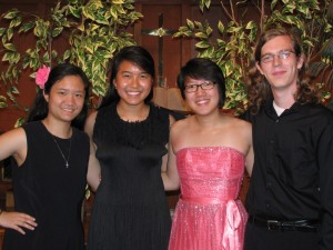 Angela Yip's Senior Graduation Recital on May 30, 2013 with her friends Tiffany Woo (violin) and Community Music School students Esther Parulian (violin), Angela Yip (cello) and Nicholas Smith (viola).
