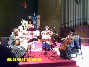 The Marian Anderson String Quartet performs with the fabulous Ruby Hinds.